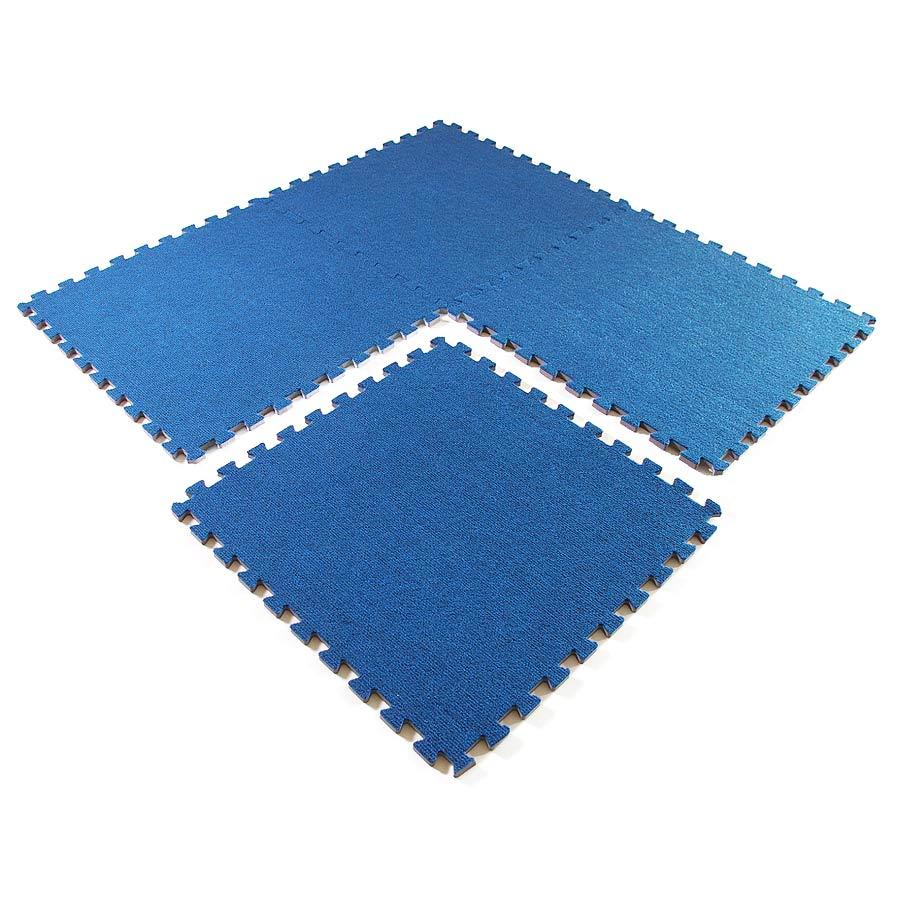 Eco Interlocking Carpet Tiles 4 Tiles Assembled One Tile