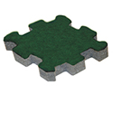 Trade Show Carpet Tiles Center Tile hunter green color swatch.