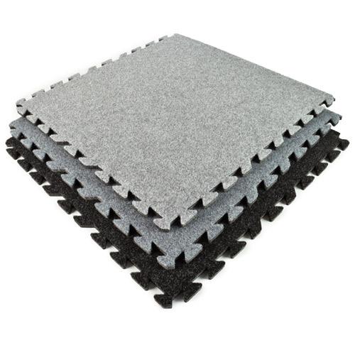 da0ea793c121 Comfort Carpet Tile 10x10 ft Kit Beveled Edges stack.