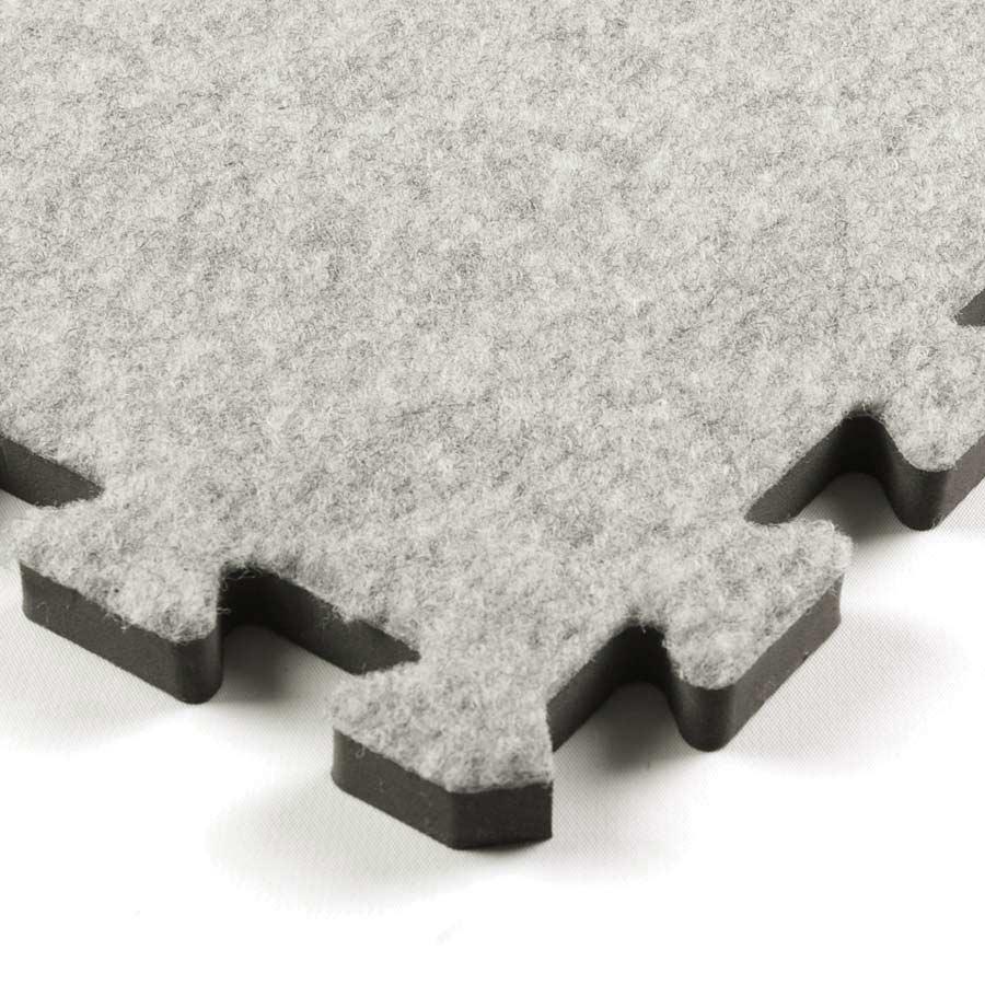 Royal interlocking carpet tile gray