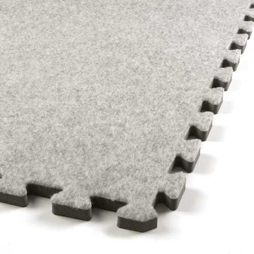 Royal Interlocking Carpet Tile gray corner.