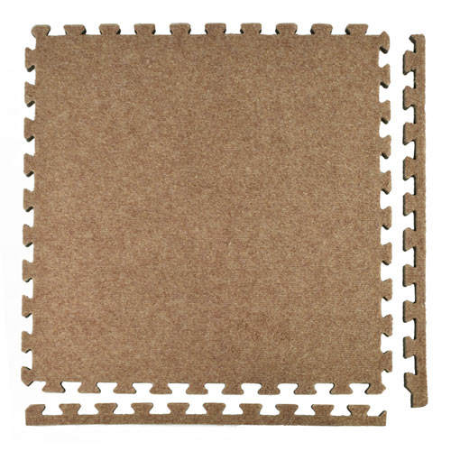 Royal Interlocking Carpet Tile tan borders.