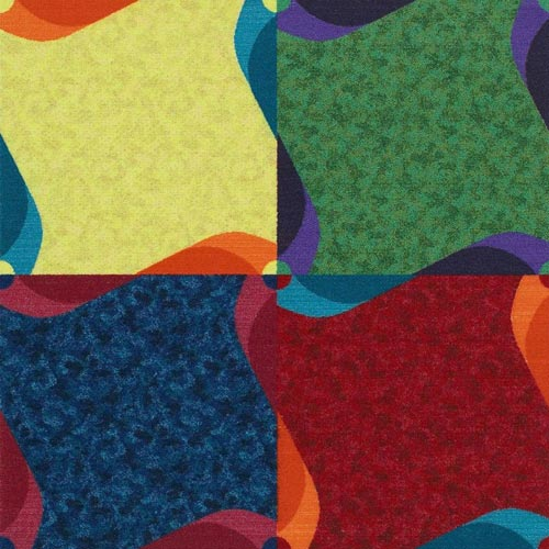 Kids Carpet Tiles Pinwheel