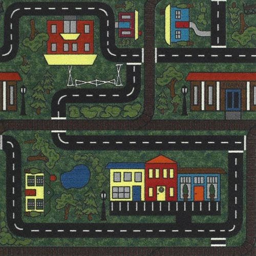 Kids Carpet Tiles Tiny Town