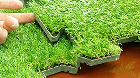 Artificial Grass Turf Padded Tile