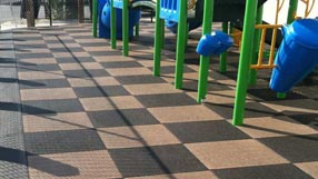 Blue Sky Playground Rubber Tile with 6 ft fall rating