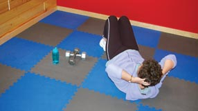 Home Gym Flooring Exercise and Kids