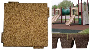 Playground Surface Bounce Back Interlock Detail