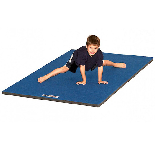 Cheer Mat 4x6 Ft 1-3/8 Inch showing boy on mat.