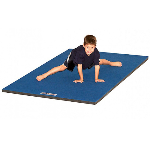 Cheer Mat Home 4x6 Ft x 2 Inch with boy on mat.