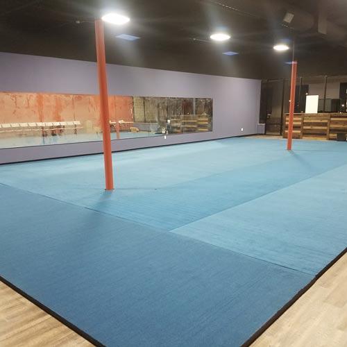 96bbbb70189ca Cheerleading Mats 6x42 ft x 2 Inch Poly Flexible Roll cartersville  greatmats cheer mats.