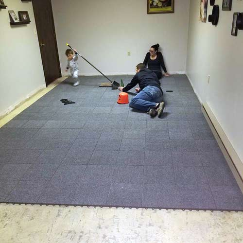 Basement Carpet Tiles Raised Waterproof Carpet Tile