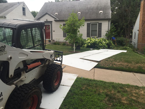 Ground Protection Mats under Skid Steer