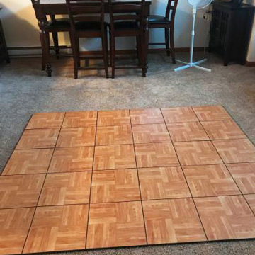 Flooring Over Carpet Temporary Ideas For Dance