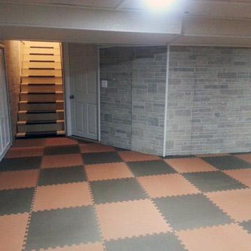 Budget Basement Flooring Ideas Foam Rubber Carpet Tiles Rolls