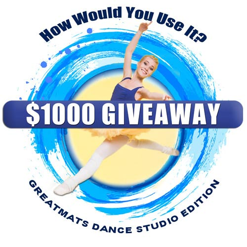 Greatmats $1000 Giveaway: Dance Studio Edition Logo