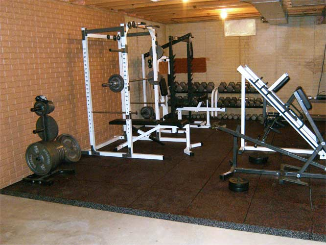 UltraTile Rubber Home Gym Floor