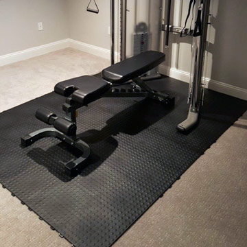 Best Home Gym Flooring Over Carpet For Workout Exercise