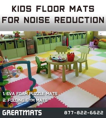 Floor Using Interlocking Foam Puzzle Mats