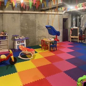 Bat Playroom Flooring Features