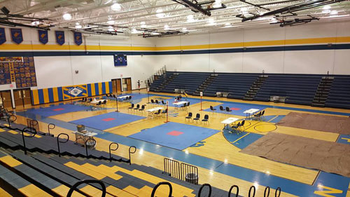 Rumble On The River 3 Mat Setup