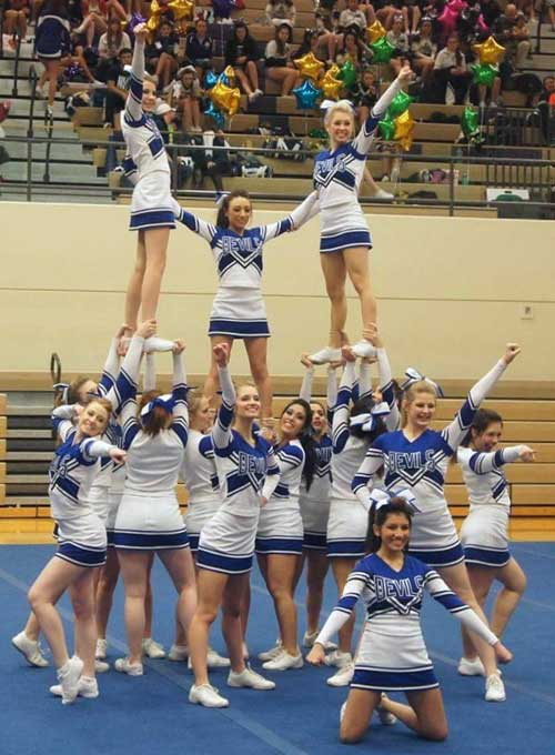 Rollout cheerleading mats help prevent serious injuries.