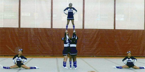 Loy Norrrix High School Cheerleading Action
