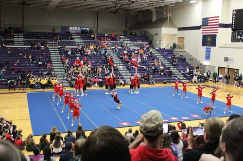 Kankakee Valley Cheerleading Stunt