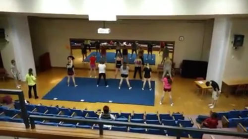 Denfeld High School Cheerleading Practice