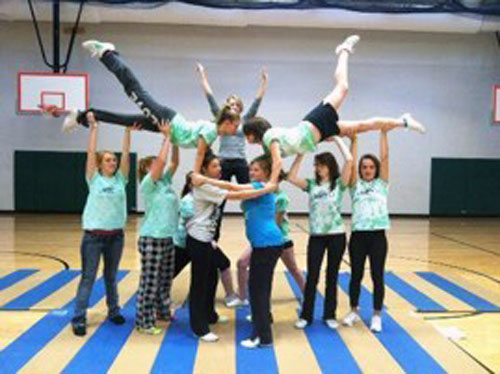 Cheerleading on Folding Mats