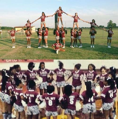 Cheerleading on Grass