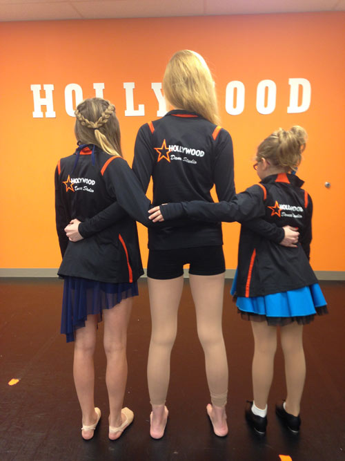 Hollywood Dance Studio Kids and Teacher Back