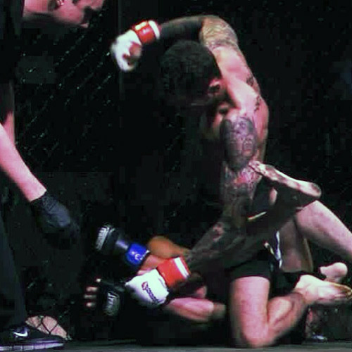 Anthony Ferro during fight