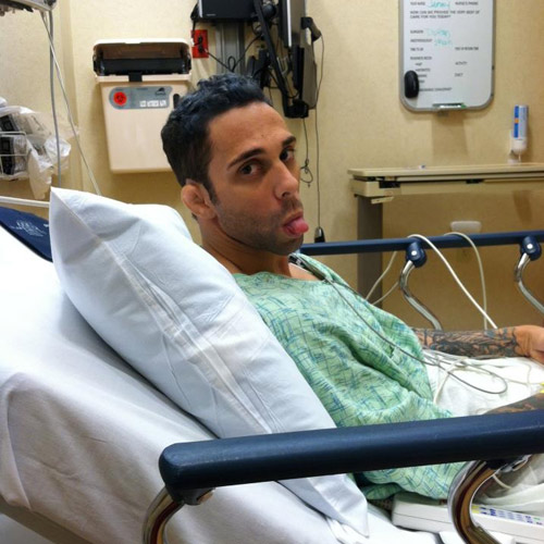 Anthony Ferro in the hospital