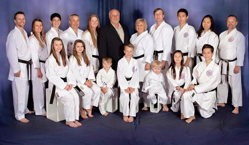 Adamson Karate Family Photo