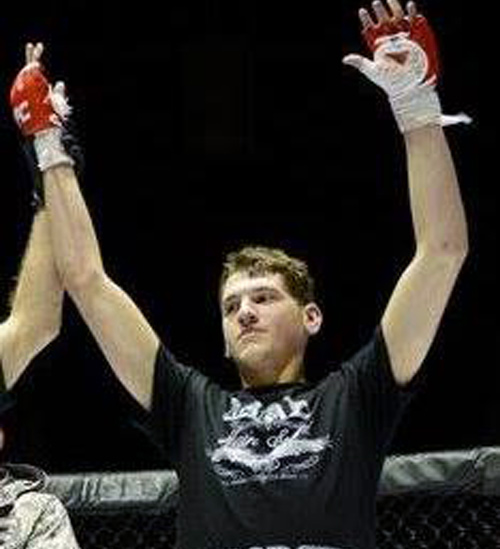 Max Madorsky after winning a fight