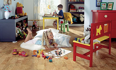 Cork Laminate Flooring Italy with kids