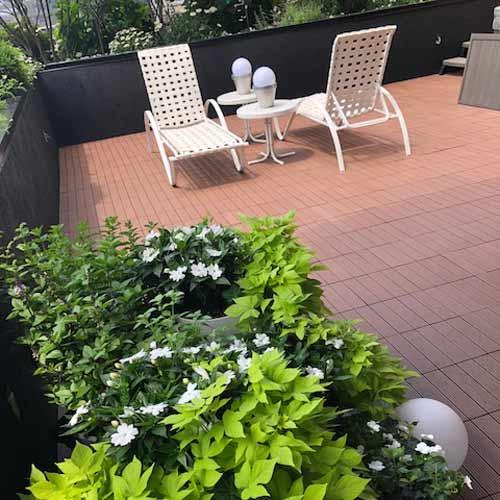 garden deck tile wpc install furniture - Garden Tiles