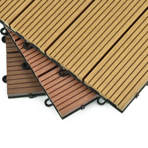 garden deck tile wpc redwood close