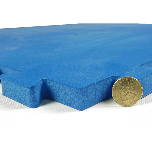 Dog Agility Mats Interlocking Tiles blue tile thickness.