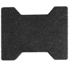 Dog Bone Outdoor Paver Tiles 1-3/4 Inch Black