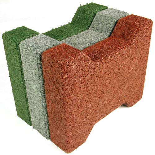 Dog Bone Outdoor Paver Tiles 1-3/4 Inch All Colors stack.