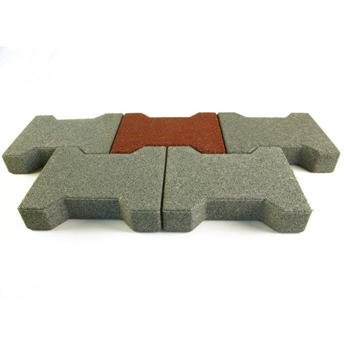 Dog Bone Outdoor Paver Tiles 1-3/4 Inch All Colors Terra Cotta.