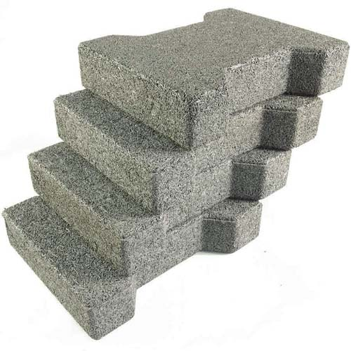 Dog Bone Outdoor Paver Tiles 1-3/4 Inch All Colors Gray Stack.