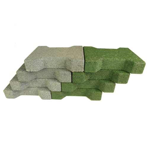 Dog Bone Outdoor Paver Tiles 1-3/4 Inch All Colors green and gray.