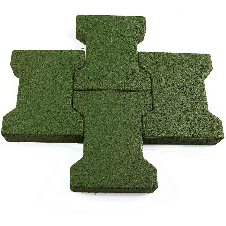 Dog Bone Outdoor Patio Tiles green tiles.