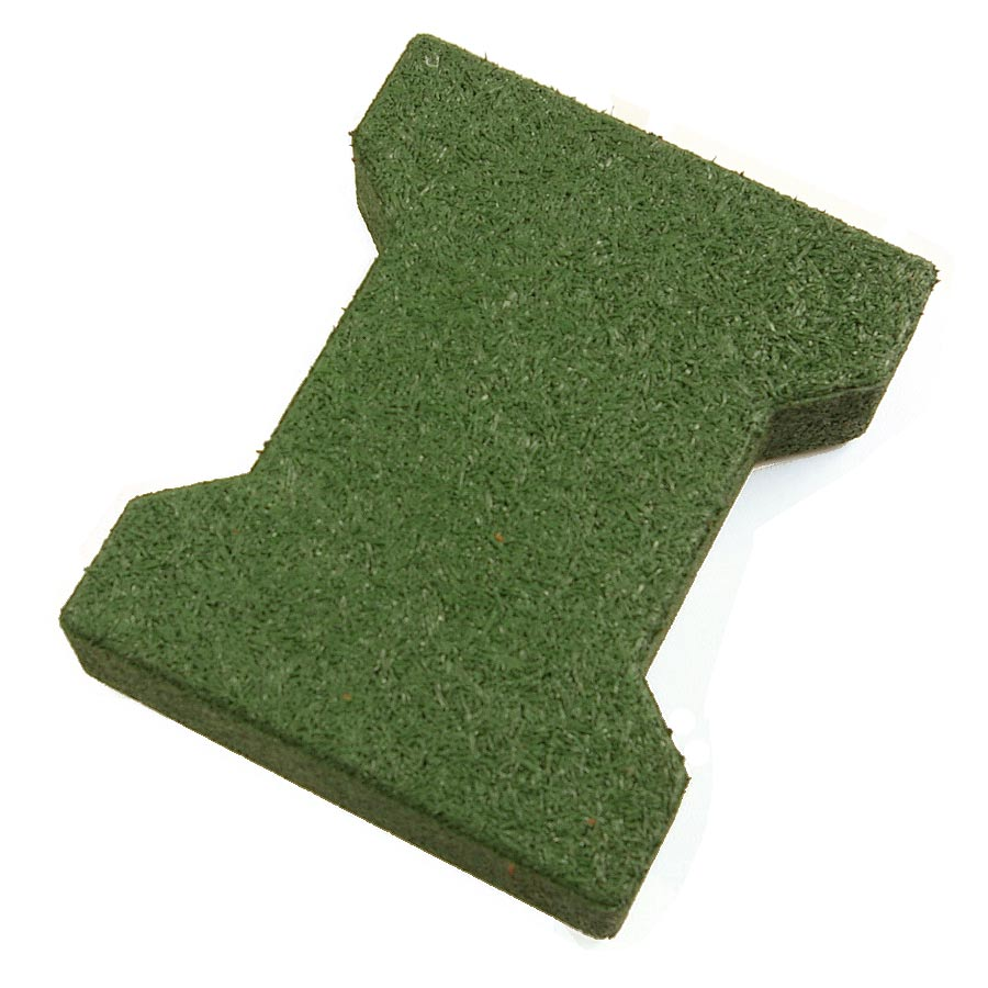 Dog Bone Outdoor Patio Tiles Green Dog Bone