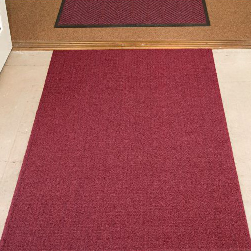 Brush Hog Plus Indoor Outdoor Entrance Mat 32x55 inches burgundy entrance.