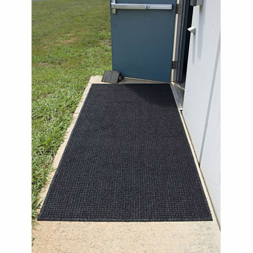 Brush Hog Plus Indoor Outdoor Entrance Mat 32x55 inches showing door..