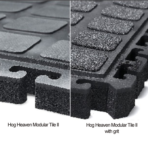 Hog Heaven II Anti Fatigue Modular Tile 18x18 with grit or without grit.
